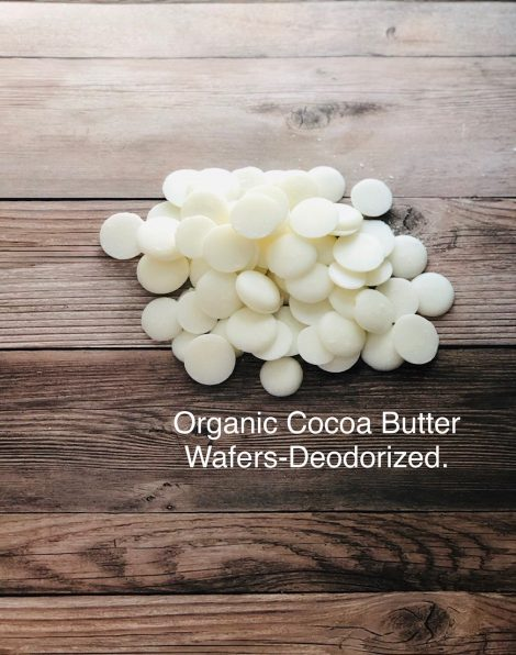 Organic cocoa butter wafers